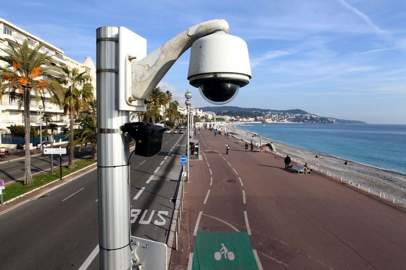 Caméra installée sur la Promenade des Anglais à Nice