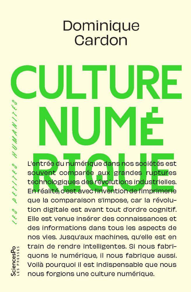 Couverture du livre de Dominique Cardon